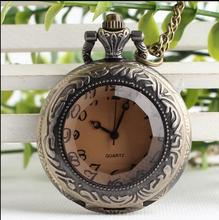 New Bronze antiques Dark brown glass crystal pocket watch chain Good quality wholesale 10pcs/lot