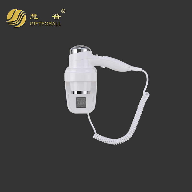 GIFTFORALL Euro Wall-Mounted hairdryer Bathroom hotel Unfoldable Handle Blow Dryer Professional Hair Salon Equipment 67588H<br>