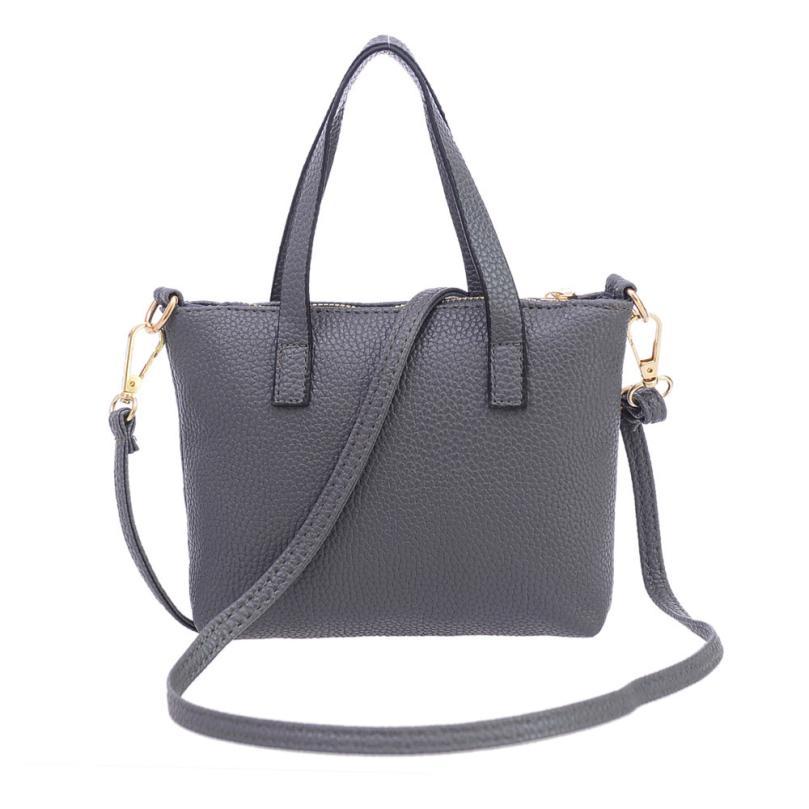 High Quality Leather Women Bag Bucket Shoulder Bags Solid Big Handbag Large Capacity Top-handle Bags Herald Fashion New Nov24<br><br>Aliexpress