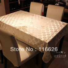 Cheap Fashion Light Color Lace cloth Rustic Table cloth Dining table cover Printed Cotton Soft Washable 150x190cm