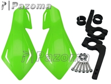 "Green Plastic Supermoto Hand Guards Motorcycles Hand Guard Protector for 7/8"" 22mm Handlebar Dirt Bike KTM MX ATV"