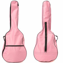39/40/41 Inch Pink Nylon Padded Guitar Gig Bag Bass Guitar Case Cover Ukuelele Backpack for Musical Instruments Lover Gift