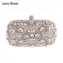 Buy Luxy Moon Evening Bags Diamond Rhinestone Pearls Beaded Day Clutch Women's Purse Handbags Wallets Evening Wedding Bag ZD848 for $23.14 in AliExpress store