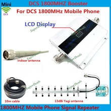 LCD Display !!! Mini 4G DCS Mobile Phone Signal Booster , GSM DCS 1800MHz Cellular Signal Repeater Amplifier + Yagi Antenna