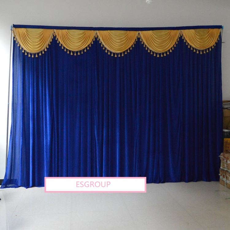 3m*4m Width Velvet Material Wedding Party Event Decorative Backdrop Wall  Hanging Stage Swag Velvet Curtain Background Drapery