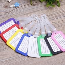 1Pcs PVC Candy colors Travel Luggage Bag Tag Address ID Label Suitcase Baggage Tags