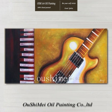 fine art abstract guitar wall painting for home decor huge painting on canvas music notes oil painting still paintings