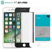 Full Cover Tempered Glass For Apple iPhone 7 Nillkin 3D AP+Pro Screen protector 4.7 inch 0.23MM 9H Edge-Shatterproof