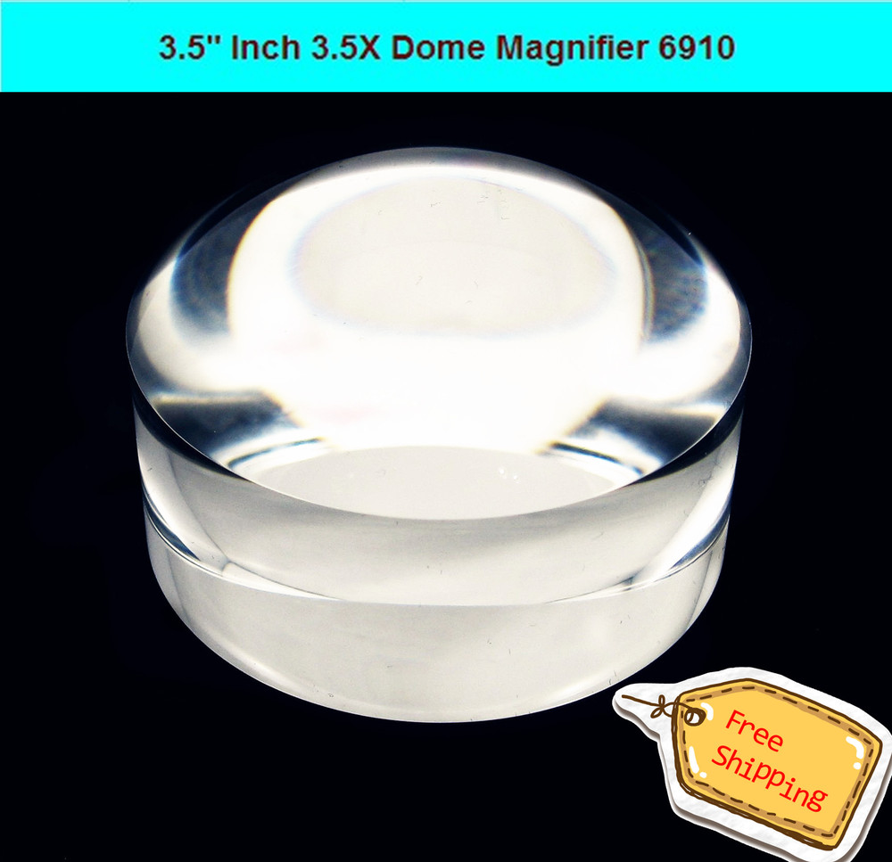 3.7 3.5X Magnification Transparent Domed Magnifying STOEMI 6910 Paperweights Light Gathering Cabochon Dome Magnifier<br><br>Aliexpress