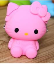 Kawaii Hello Kitty Silicone Zipper Travel Small Hasp Storage Bag 5 Color Option