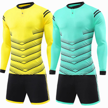 2017 Men Sport Running Survetement Print Football Jersey Set Long Sleeve Suit Soccer Training Jerseys Kits Sportswear Uniforms(China)