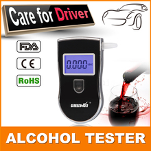 10pcs/lot  Patent Professional Digital Breath Alcohol Tester with 3 digital LCD display Blue Backlight Mouthpieces