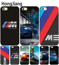 HongJiang luxury bmw M3 photo print cell phone Cover case for iphone 6 4 4s 5 5s SE 5c 6 6s 7 8 plus case for iphone 7 X(China)