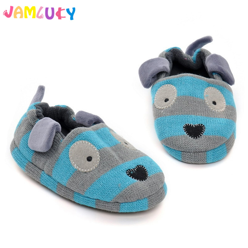Winter Kids Slippers Boys Girls Indoor Shoes Anti-Skid 2-5 Years Blue Boy's Cartoon Dog Home Shoes Children Slippers Girls