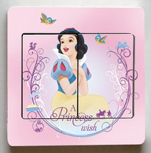 3D Animation film Snow Princess Switch Stickers,Very Cute Princess Wall Stickers,Children Room Decor Light Switch stickers