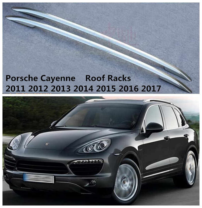 Aluminum Fits for Porsche Cayenne 2011-2017 luggage roof rail roof rack