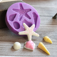 DIY Starfish Shell Chocolate Silicone Moulds Fondant Silicone Candy Cake Molds e129