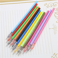 12 Pcs / Pack 0.38mm Cute Candy Color Slim 12 Colored Gel Pen Ink Marker Pen School Office Supply Escolar Papelaria