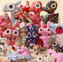 10pcs wholesale mini mix designs Button Dolls decoration plush Stuffed dolls toys , Mini Irregular Shape Doll with string ropes