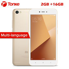 Global ROM Original Xiaomi Redmi Note 5A Note5A 2GB RAM 16GB ROM Cellphone Snapdragon 425 Quad Core CPU 5.5 Inch 13.0MP(China)