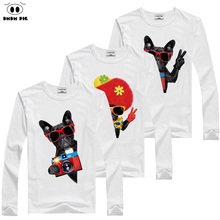 DMDM PIG 2017 Autumn Christmas Kids T Shirts Teenage Children Long Sleeve T-Shirts For Girls Toddler Baby Boy Tops Cotton TShirt