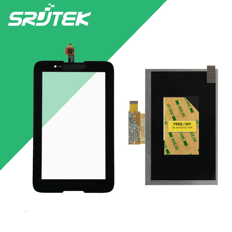 Srjtek 7inch For Lenovo A7-30 A3300 Touch Screen with LCD Display Screen Digitizer Sensor Tablet Pc With Track NO.<br>