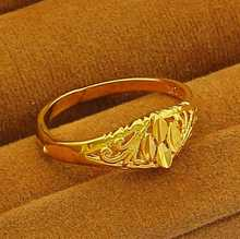 New Arrival!! Fashion 24K GP   gold color  Mens&Women Jewelry Ring Yellow Gold Golden Finger Ring Free Shipping YHDR010