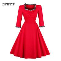 ZIPIPIYF-Women-Vintage-Dress-Retro-50s-Short-sleeve-belt-Summer-Dress-Elegant-Female-Slim-Pleated.jpg_200x200