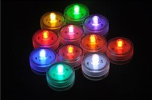 12pcs/set Battery Powered RGB 11 Colors Available Color Changing Waterproof Small LED Candle light(China)