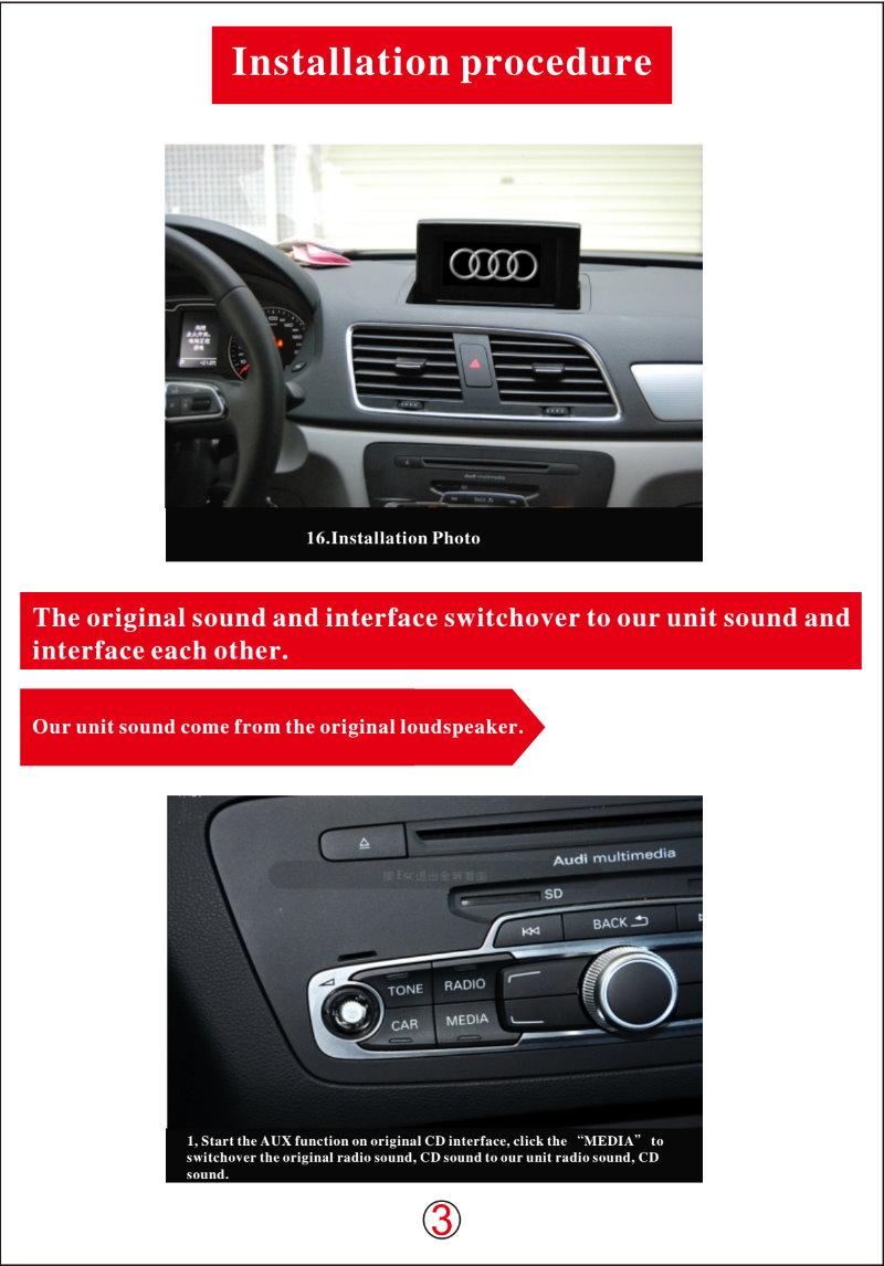 For Audi Q3 2011-h