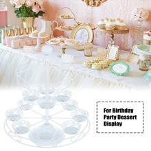 1Pcs Cake Stand 3 Tier Candy Fruits Cake Tools Desserts Plate Stand Christmas Tree Shape Cupcake Fruit for Dessert Display