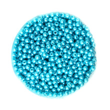 4mm ABS Lake Blue Color Imitation Pearls Beads Round Loose Acrylic Plastic Bead for DIY Kid Strand Bead Bracelet Necklace Making(China)