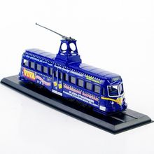 1/87 Scale Tram Train Model Diecast Tramways Railcoach (Brush)-1937 Tram Model Blue W/Original Box Toys Collection Gift D(China)
