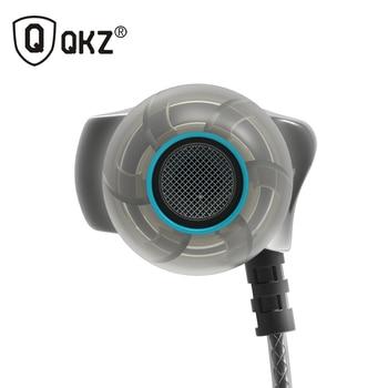 QKZ DM7 Auricular Estéreo del Metal Con Aislamiento de Ruido En La Oreja Los Auriculares de Música Auriculares Auriculares fone de ouvido DJ DJ MP3 audifonos