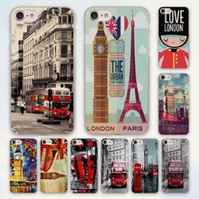 style london bus england telephone vintage british design transparent clear Cases Cover for Apple iPhone 6 6s Plus 7 7Plus SE 5