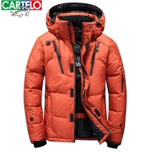 CARTELO 2017 winter brand down jacket Men Multiple pockets thicken 80% White Duck Down Jackets Down Parkas male coats clothing