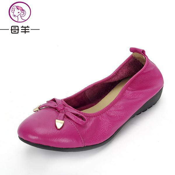 MUYANG Chinese Brand Women Genuine Leather Flat Shoes Woman Loafers,Women Shoes Handmade Maternity Casual Shoes Women Flats<br><br>Aliexpress