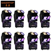 TIPTOP 8 Units 8x10W Moving Head Beam Light Compacted Size Low Weight Two Rotation Arm 8 Eyes RGBW Beam DMX Disco DJ Equipment(China)