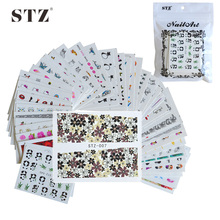 50sheets Mixed NEW 2017 Water Transfer Decals Nail Art Sticker Decorations for DIY Nails Tips Beauty Wraps Random Styles M50