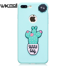 "Fashion Green Cactus 3D Luxury Hybrid plastic Case Cover Skin For iPhone 7 6 6S 4.7 Plus 5.5""5 5S  cute 3D daisy case Sunny day"