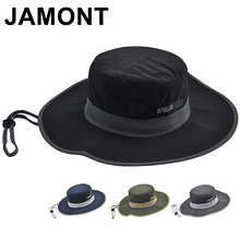 Jamont de mujeres de los hombres a prueba de agua de Nylon cubo sombrero de  secado rápido de ala ancha Gorro tapas para pesca se. e43a639ed17