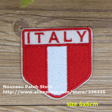 New arrival 10 pcs ITALY flag embroidered Iron On Patch TS garment cell phone Appliques accessory CPAM Shipping