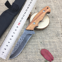 Newest 440A Steel Full Tang CJ Fixed Blade Knife, EDC Outdoor Tactical Knife,Survival Jungle Knives,Gifts Hunting Straight Knive(China)