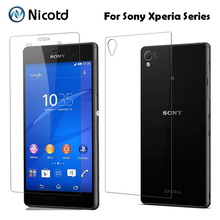 2Pcs/Lot 9H 0.3mm 2.5D Front+Back Tempered Glass For Sony Xperia Z3 Compact Z Z1 Z2 Z4 Z5 Premium AntiExplosion Screen Protector(China)