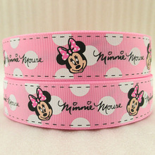 "1""(25mm) Cartoon Mouse high quality printed polyester ribbon 5 yards,DIY handmade materials,wedding gift wrap,5Yc1320"