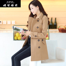 2015 Real Rushed Casacos Blusa De Frio The New Jzyl2015 Models Will Fall And Winter Clothes Women's Coat Female Long Woolen 0920(China)
