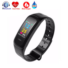 Buy Color Screen C1 plus Bracelet Smart Band Blood Pressure Oxygen Heart Rate Monitor Fitness Tracker Bluetooth Wristband Watch Mi 2 for $17.90 in AliExpress store