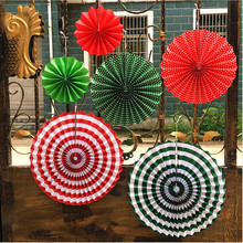 6pcs/set Colorful wheel Tissue Paper fans Flowers balls lanterns Party Decor Craft For Bar Birthday Party Wedding Decoration(China)