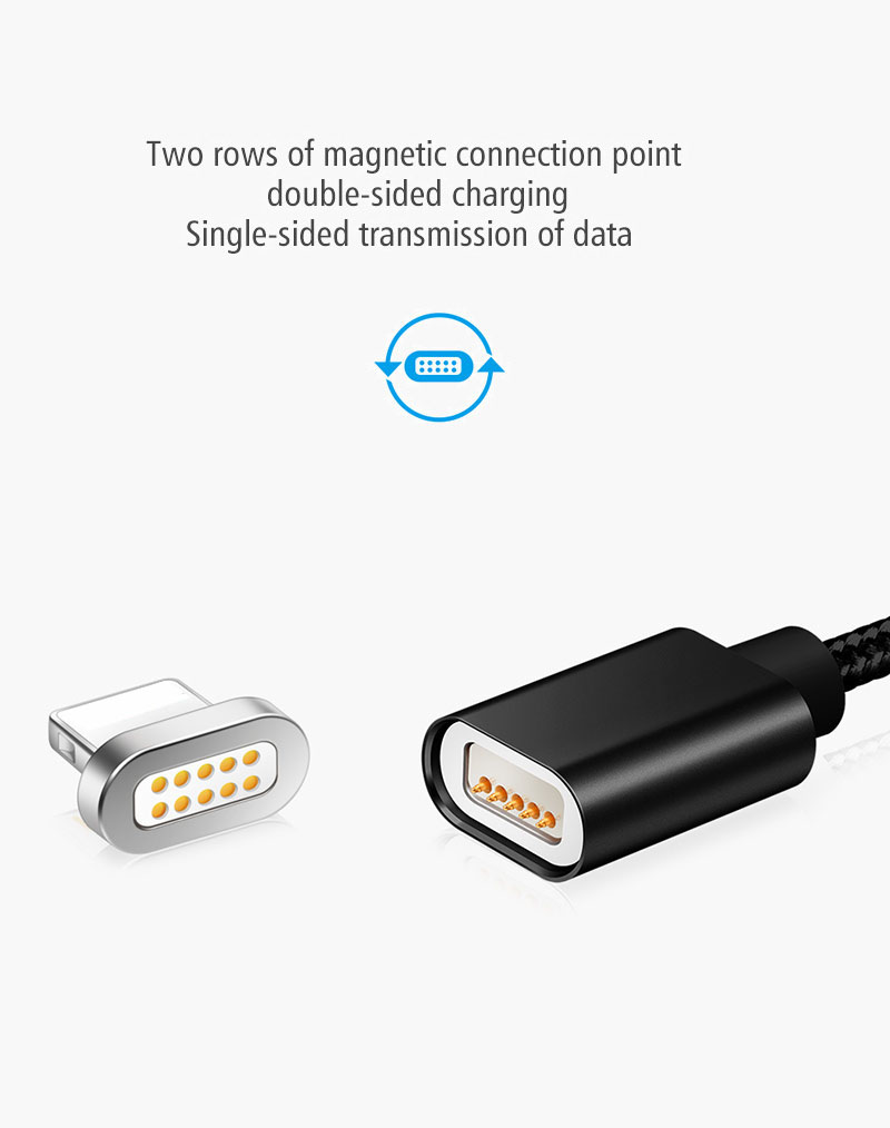 Elough E04 Magnetic Charger Magnet Cable Micro USB Cable Nylon Braided For iPhone 7 6 5s Samsung S6 Fast Charge Microusb Cables