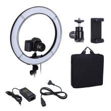 Camera Photo Studio Phone Video 55W 240PCS LED Ring Light 5500K Photography Dimmable Ring Lamp(China)